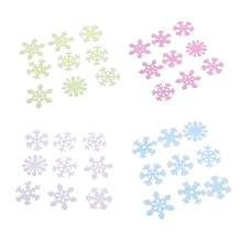50pcs 3cm Snow Fluorescent Patch Home Furnishings Luminous Wall Stickers Home Window Snowflake Stickers Wall Furniture Decor(China)
