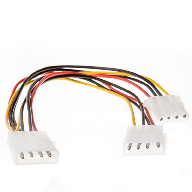 18cm 2 Way 4 pin PSU Power Splitter Cable LP4 Molex 1 to 2 A8(China (Mainland))