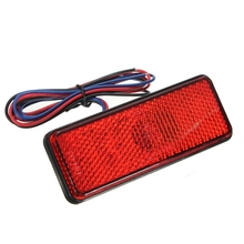 Universal LED Reflector White Red Rear Tail Brake Stop Marker Light For Car Truck Trailer RV Motorcycle With Reflector(China)