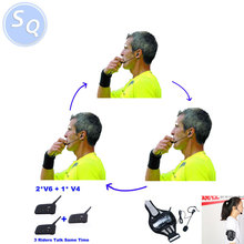 3 Referees Talk same time Football Referee Judger Arbitration Walkie Talkie Football Coach Referee Headset
