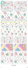 Rocooart DS036 Water Transfer Foils Nail Art Sticker Cartoon Babys Manicure Decals Minx Nail Decorations Patch 2017