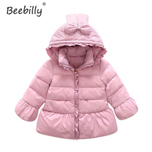 2017 Winter Jackets for Girls Cartoon Style Warm Duck Down Jackets Coats Girls Clothes Hooded Jacket for Girls Parkas Outerwear