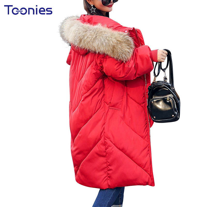 Winter Collection Women Padded Parkas With Fur Hooded Outwear Coats Thick Warm Plus Size Pockets Parka Thick Overcoat JacketÎäåæäà è àêñåññóàðû<br><br>