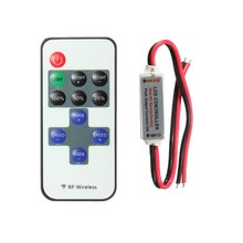 Best Promotion DC12V 11 Keys Mini RF Wireless Remote Controller for RGB Led Single Color Strip(China)