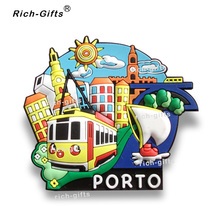 Free Customized OEM/ODM Promotional Gifts With Your Logo Eco-Friendly Fridge Magnets Gift Items Souvenir Porto1000PCS/Lot(RC-PT)