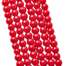 5A Red Glass Imitation Pearl 4 6 8 10MM Round Beads For Fashion DIY Bracelets& Necklaces Making Accessories