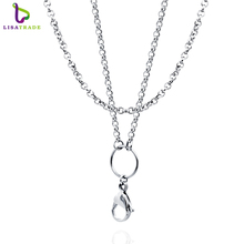 High quality 10pcs/lot 2.5mm width,26 inch and 30 inch Silver 316 Stainless steel rolo chains for floating locket LSCH03*10