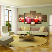 hot sale HD Printed colorful Candles Group Painting children's room home decor print poster picture canvas Free shipping(China)