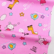 16712-2F,50cm * 150 cm animal world cartoon series cotton fabrics, making cushions cushion, children's clothing, bedding.(China)