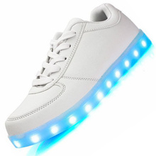 Fashion Glowing sneakers Usb charging shoes led Slippers do with Lights Up Boy Girls Led tenis simulation Kids Luminous Sneakers