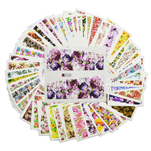 48Sheets Colorful Full Wraps Blooming Flower Nail Art Water Transfer Stickers Decal Foil Polish Manicure Decor Tool LASTZ352-391(China)