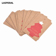 "LASPERAL 50PCs Christmas Series Tag Findings For DIY Gift Box ""Merry Christmas"" Letter Tree Snowflake Pattern Paper Tag Label"