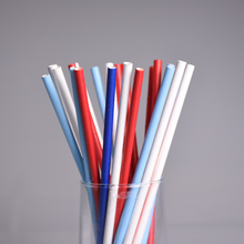 25pcs/lot Mix Solid Color Drinking Straws for Wedding Party Kids Birthday Decoration White Blue Red Paper Straws XMAS
