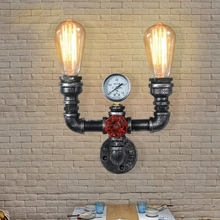 Loft Style Vintage Wall Lights For Home Antique Light Fixtures Metal Industrial Water Pipe Lamp Bedside Edison Wall Sconce