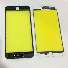 100Pcs/lot free DHL AAA Quality LCD Touch Screen Outer Front Glass Lens with Frame Bezel Assembly for iPhone 7 Plus Housing Part