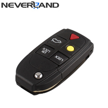 New Arrival 5 Buttons Flip Folding Smart Car Key Shell Case Replacement For VOLVO S80 S60 V70 XC70 XC90 D05 Free Shipping D15