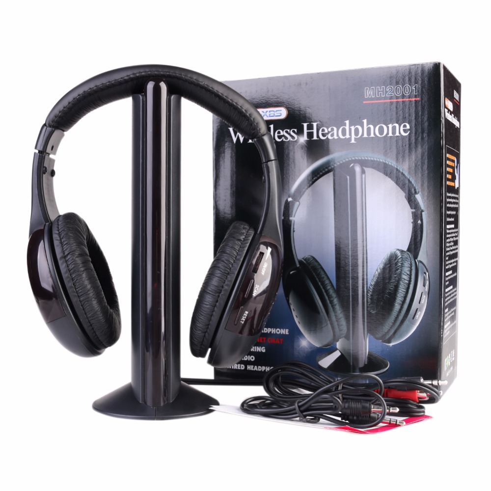 TYAYA New 5 In 1 Wireless Headphones Headset High Quality with Mic handsfree for PC TV Radio<br>