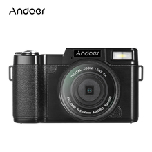 "Andoer R1 1080P HD 24MP Digital Video Camera Camcorder 3.0"" Rotatable LCD Screen Anti-shake 4X Digital Zoom with Flashlight"