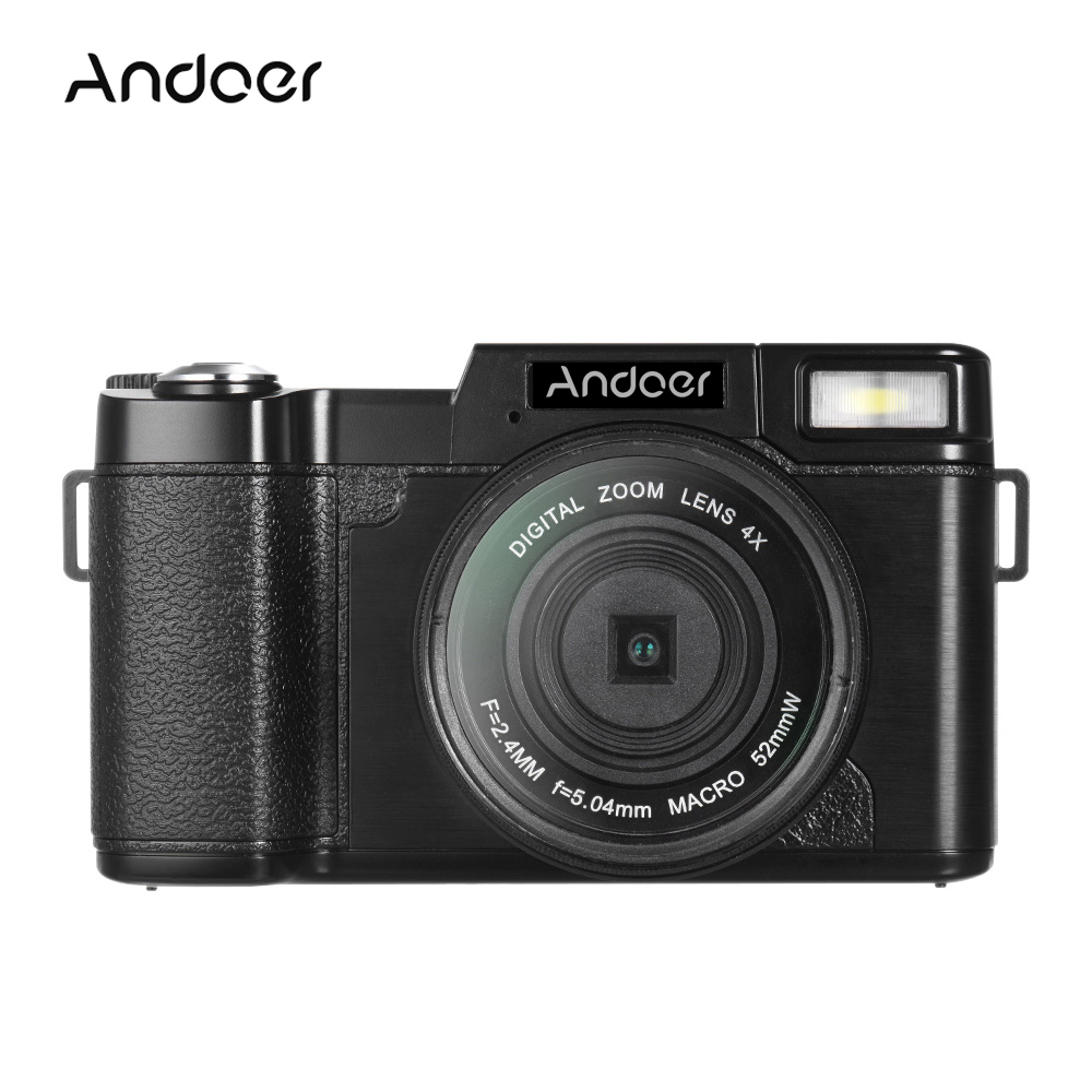 "Andoer R1 1080P HD 24MP Digital Video Camera Camcorder 3.0"" Rotatable LCD Screen Anti-shake 4X Digital Zoom with Flashlight(China (Mainland))"