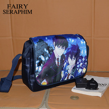 FAIRY SERAPHIM Clutch Bolsa Hot Selling Japanese Cartoon Style Bags Teenagers School Bag Blue Anime Exorcist Messenger