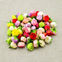 30pcs cheap Artificial Flowers DIY Home Decoration Wedding car Party Bridal bouquet material Handmade Rose Silk Flower Heads