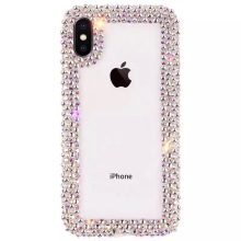 Casos de Cobertura de luxo Completa Bling Cristal Capa para iPhone XS Max XR XS X 7 8 Plus 6 6 s diamond Plus Fundas Coque Coque(China)