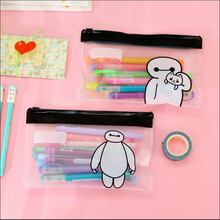 The Great Hero Cute Cartoon Big White Black Pencil Bag Storage Organizer Bag Stationery Office School Supplies Student Award