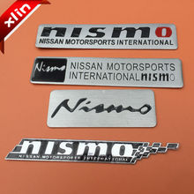 10pcs Aluminum NISMO MOTORSPORTS logo side Badge Car rear trunk Emblem Decal Sticker Free shipping
