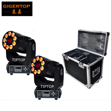2IN1 Roadcase Pack Led Moving Head Wash Light Spot Function Rotate Gobo Wheel/Color Wheel 3 Facet Prism Electronic Linear Focus
