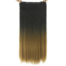 Soowee 20 Colors Long Straight Black To Brown Ombre Hair High Tempreture Fiber Synthetic Hair Pad Clip In Hair Extensions