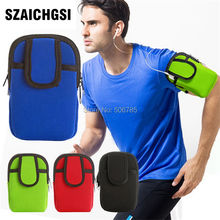 SZAICHGSI wholesale 20pcs Arm Band Waterproof Phone Cases Cover Run Sports Fitness Wrist Hand Belt Pouch Bag for iphone 7 6(China)