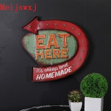 Meijswxj LED Neon Sign Vintage Home Decor Shabby chic Brass knuckles weapon Bar Cafe Restaurant Background wall hangings signs(China)