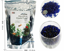 Non-toxic Aquatic Crystal Sand White Blue Red 400g Aquarium Fish Tank Decoration