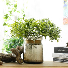 Green Grass Artificial Plants For Plastic Flowers Household WeddingDecoration Plant with leaf Setting wall decoration(China)