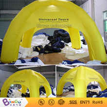4M * 4M / 13ft * 13ft Yellow Inflatable Car Roof Tent Inflatable Tents for sale with Free Fan Blower outdoor toy