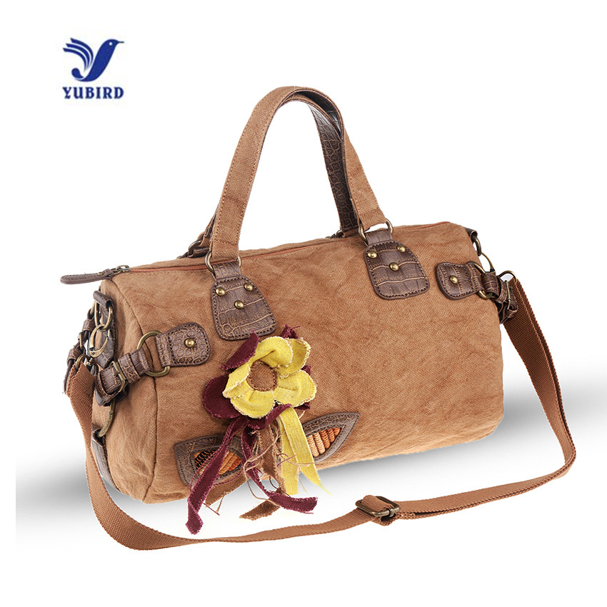 YUBIRD Brand 2017 Bohemian Flower Designer Women Fabric Handbags Lady Vintage Casual Cross Body for Women Boston Linen Tote Bag<br>