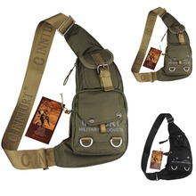 New Men Durable Nylon Shoulder Messenger Cross Body Bag Military Travel  Riding Water Bottle Sling Chest Pack