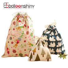 1Pcs Cotton & Linen Holder Travel Drawstring Tote Storage Bag Organizer Case For Large Capacity Underwear Gift Storage Tool