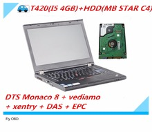 Top T420(I5 4GB)+HDD(320GB) DTS Monaco 8 + vediamo+xentry+DAS+EPC Complete super engineers WITH win7 64WIN System For MB STAR C4