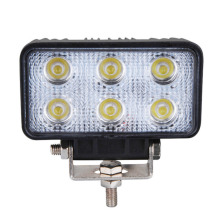 New 60 Degree 18W 6 LED Work Light Lamp Bar Flood Beam Tractor Truck Bright 12v 24v CE For Motorcycle Car 2pcs