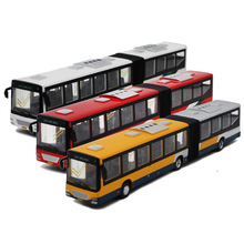 Interesting children's toy, automobile alloy, die casting bus, cute cartoon model, intelligence education, automobile toy