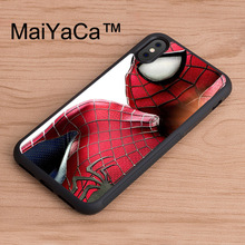 MaiYaCa Spider Man Superhero Original phone Case for iPhone X Mobile Phone Back Shell for iPhone X TPU Soft Case(China)