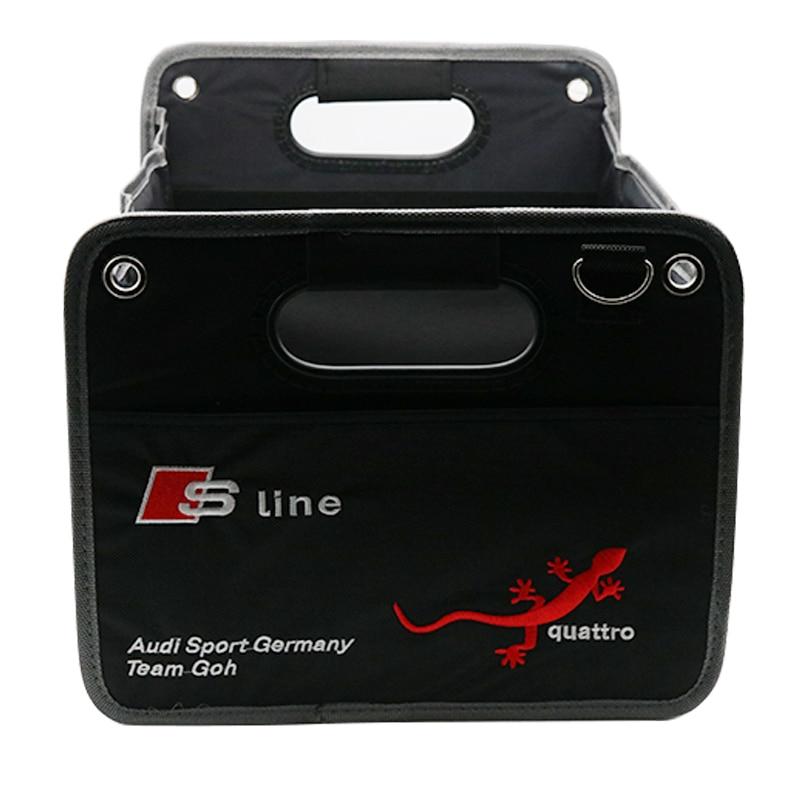 Foldable Car Auto Back Rear Trunk Seat Big Storage Bag Pocket Organizer For A1 A4 B6 B8 A3 A5 A6 C5 Q3 Q7 Q5 TT b5 b6 b7 q3 q5<br>