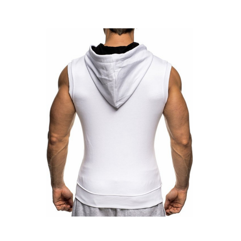 Male Bodybuilding Hoodies Fitness Clothes Hoody Cotton Hoodie Men Sweatshirts Men's Sleeveless Tank Tops Casual Vest 14