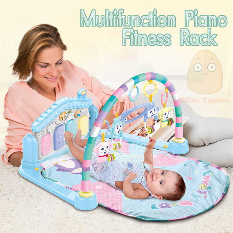 MiniTudou Baby Activity Play Mat Baby Gym Educational Fitness Frame Multi-bracket Baby Toys 0-12 Months Game Mats For Kids 1