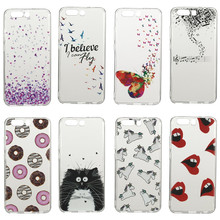 Cases For Huawei P10 Cute Donuts Sexy lips Butterfly Pure Cover Case For Huawei P10 Ultra Silicone Woman Mobile Phone Gel Coque