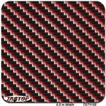 TSTY155  Red Carbon Fiber Pattern 0.5m *2m Hydrographic Film  PVA Water Transfer Printing Film