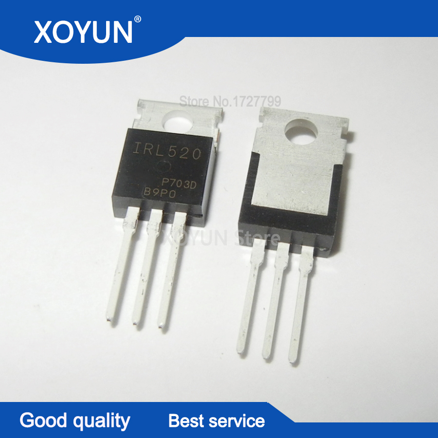 10PCS IRL520N IRL520 TO-220 100V 10A new