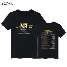 MULYEN Rock Band U2 T Shirt Men Summer Cotton Short Sleeve Ireland Hip Hop Music Tshirt Brand Clothing T-Shirt Camisa Masculina
