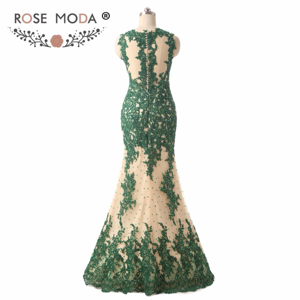 green prom dressc